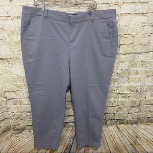 Liverpool Grey Kelsey Flat Front Trouser Pants